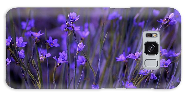 Purple Wildflowers In A Field Galaxy Case