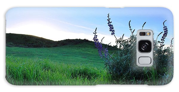 Galaxy Case featuring the photograph Purple Wildflowers In Beautiful Green Pastures by Matt Harang
