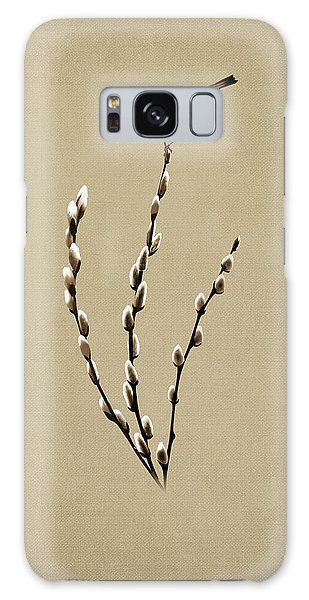 Pussy Willow And Chickadee Galaxy Case