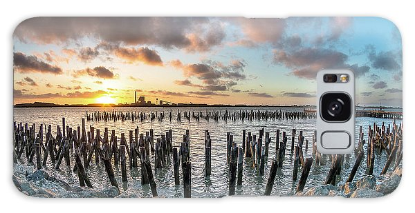 Pylons Mill Sunset Galaxy Case by Greg Nyquist