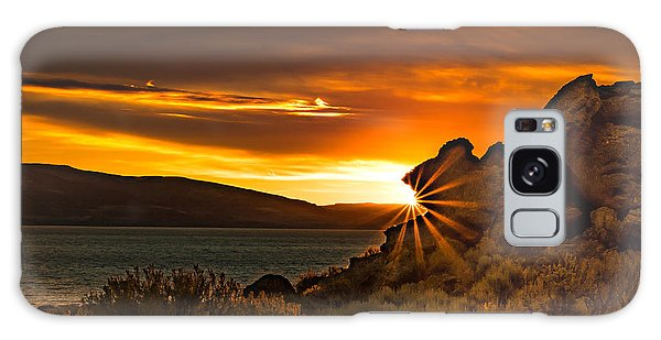 Pyramid Lake At Sunrise Galaxy Case