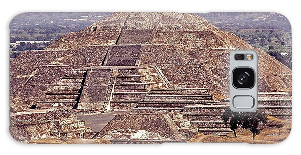 Pyramid Of The Sun - Teotihuacan Galaxy Case by Juergen Weiss