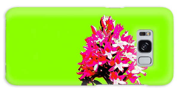 Green Pyramid Orchid Galaxy Case
