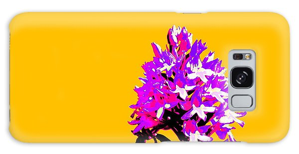 Orange Pyramid Orchid  Galaxy Case