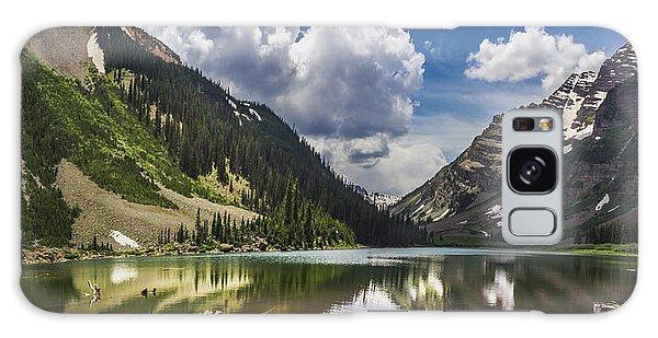 Pyramid Peak, Maroon Bells, And Crater Lake Panorama Galaxy Case