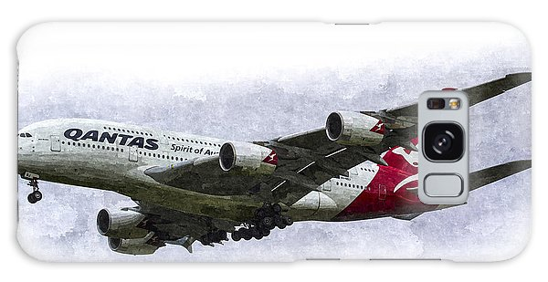 Qantas Airbus A380 Art Galaxy Case