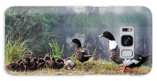 Quack Quack Ducks And A Pond Galaxy Case