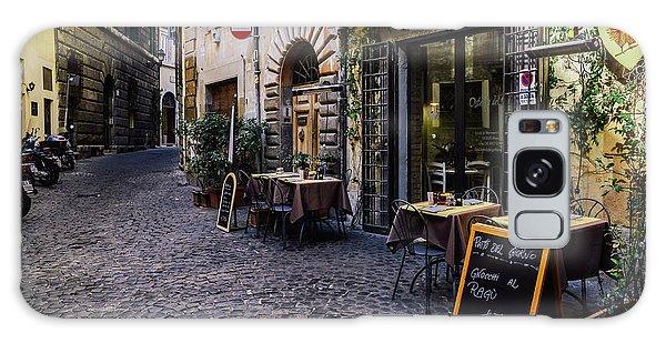 Quaint Cobblestones Streets In Rome, Italy Galaxy Case