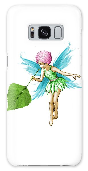 Quaking Aspen Tree Fairy Holding Leaf Galaxy Case