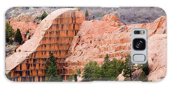 Quarry Closup At Red Rock Canyon Colorado Springs Galaxy Case