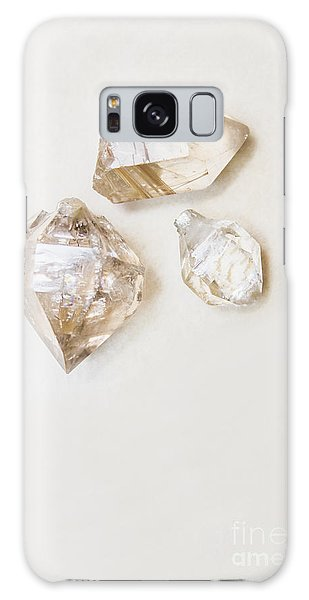 Galaxy Case featuring the photograph Quartz Crystals by Jorgo Photography - Wall Art Gallery