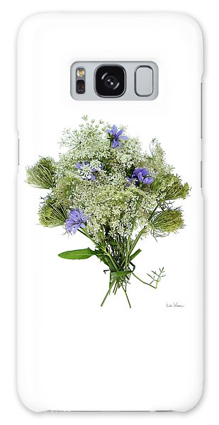 Queen Anne's Lace With Purple Flowers Galaxy Case