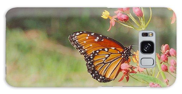 Queen Butterfly On Milkweed Galaxy Case
