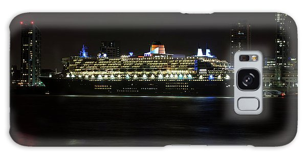 Queen Mary 2 At Night In Liverpool Galaxy Case