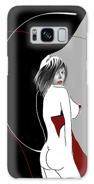 Galaxy Case featuring the digital art Queen Of Hearts by Maria Lankina
