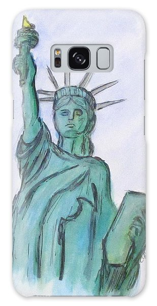 Queen Of Liberty Galaxy Case by Clyde J Kell