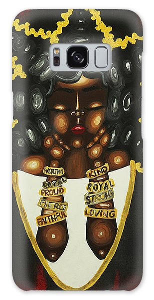 Galaxy Case featuring the painting Queenisms by Aliya Michelle