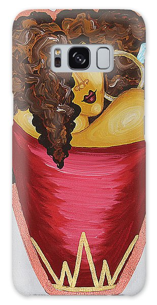 Galaxy Case featuring the painting Queens Be Winning by Aliya Michelle