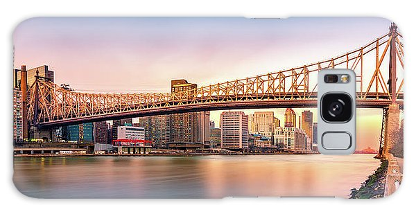 Queensboro Bridge At Sunset Galaxy Case