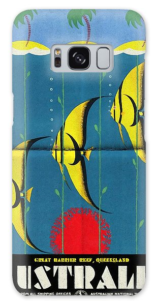 Queensland Great Barrier Reef - Vintage Poster Folded Galaxy Case