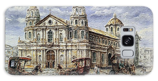 Quiapo Church 1900s Galaxy Case by Joey Agbayani