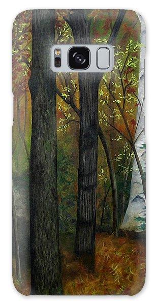 Quiet Autumn Woods Galaxy Case