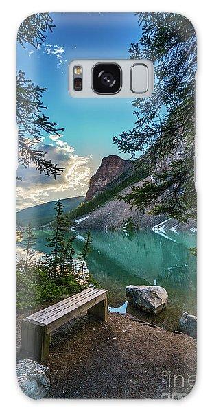 Moraine Lake Galaxy Case - Quiet Lake Moraine Solitude by Mike Reid