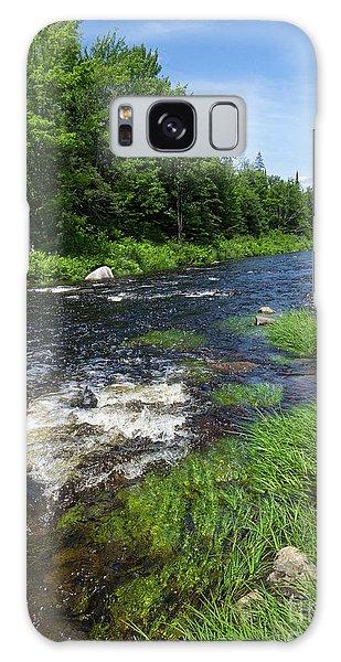 Quill Pond Brook Near Rangeley Maine  -70748 Galaxy Case
