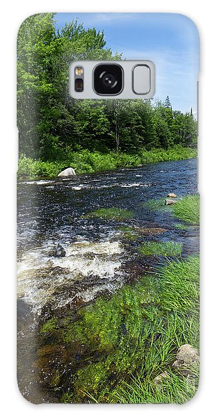 Quill Pond Brook Near Rangeley Maine  -70748 Galaxy Case