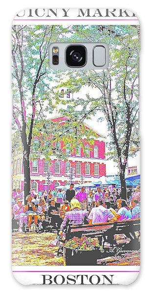 Quincy Market, Boston Massachusetts, Poster Image Galaxy Case