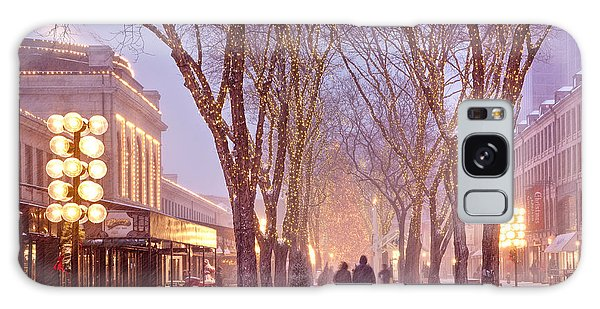 Quincy Market Stroll Galaxy Case by Susan Cole Kelly