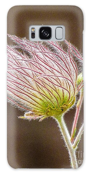 Quirky Red Squiggly Flower 1 Galaxy Case