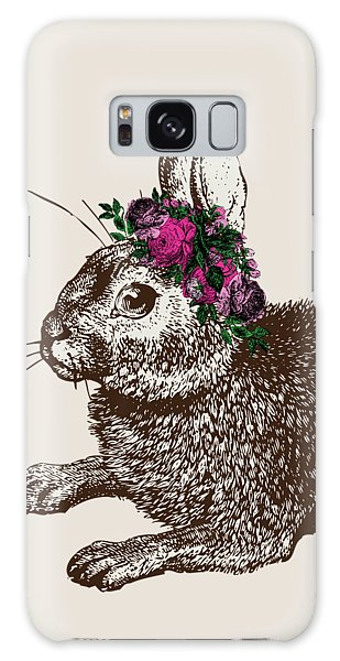 Rabbit And Roses Galaxy Case