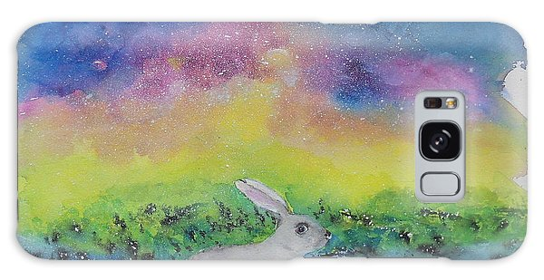 Rabbit In Galaxy 5 Galaxy Case by Doris Blessington
