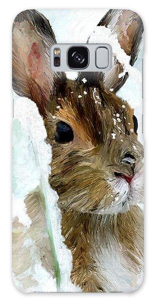 Rabbit In Snow Galaxy Case by James Shepherd