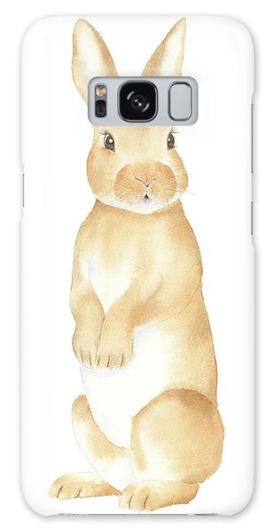 Rabbit Watercolor Galaxy Case by Taylan Apukovska