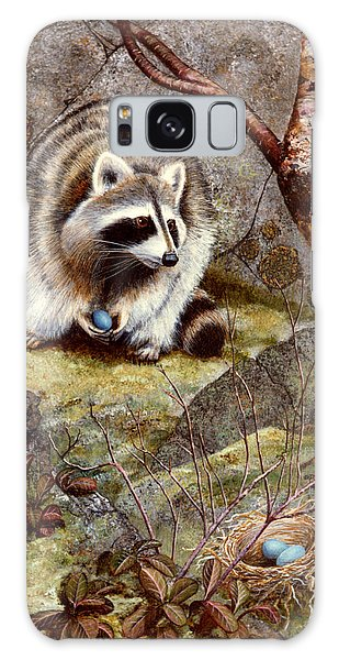 Raccoon Found Treasure  Galaxy Case