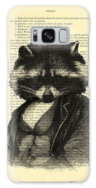 Coyote Galaxy Case - Raccoon Portrait, Animals In Clothes by Madame Memento