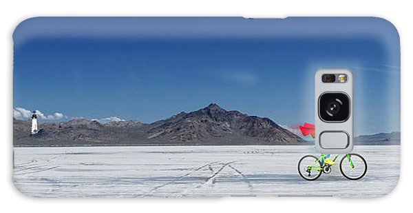 Racing On The Bonneville Salt Flats Galaxy Case