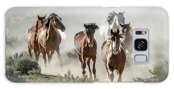 Racing To The Water Hole Galaxy Case
