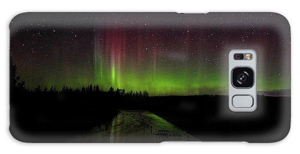 Red And Green Aurora Pillars Galaxy Case