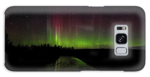 Red And Green Aurora Pillars Galaxy Case