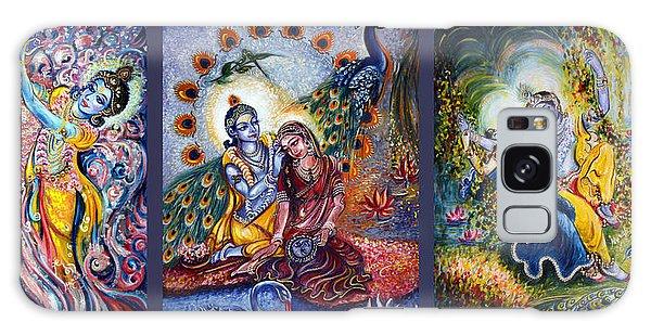 Radha Krishna Cosmic Leela Galaxy Case