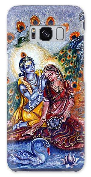 Radha Krishna Cosmic Leela Galaxy Case by Harsh Malik