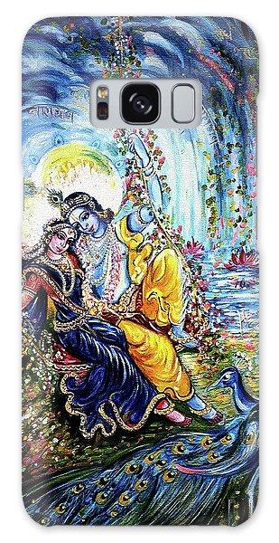 Radha Krishna Jhoola Leela Galaxy Case by Harsh Malik