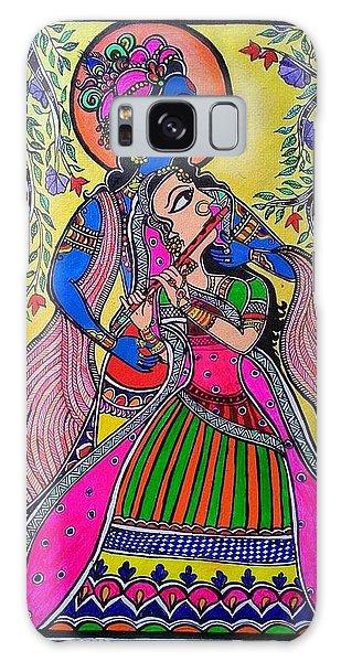 Madhubani Galaxy Case - Radhe Krishn by Archana Das