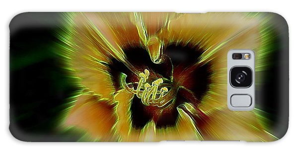 Radiant Daylily Galaxy Case by Shirley Sirois