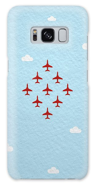 Hawk Galaxy Case - Raf Red Arrows In Formation by Samuel Whitton