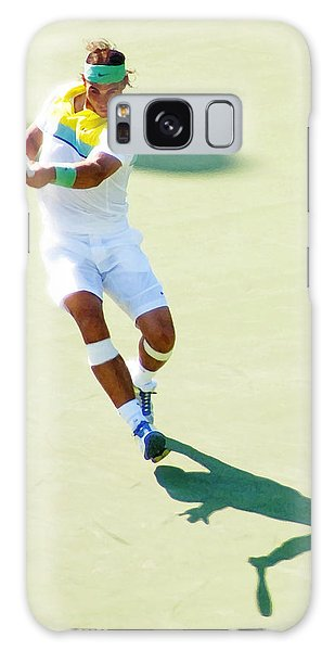 Rafael Nadal Shadow Play Galaxy Case by Steven Sparks
