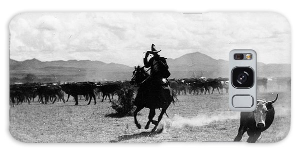 Texas Galaxy Case - Raguero Cutting Out A Cow From The Herd by Raguero cutting out a cow from the herd
